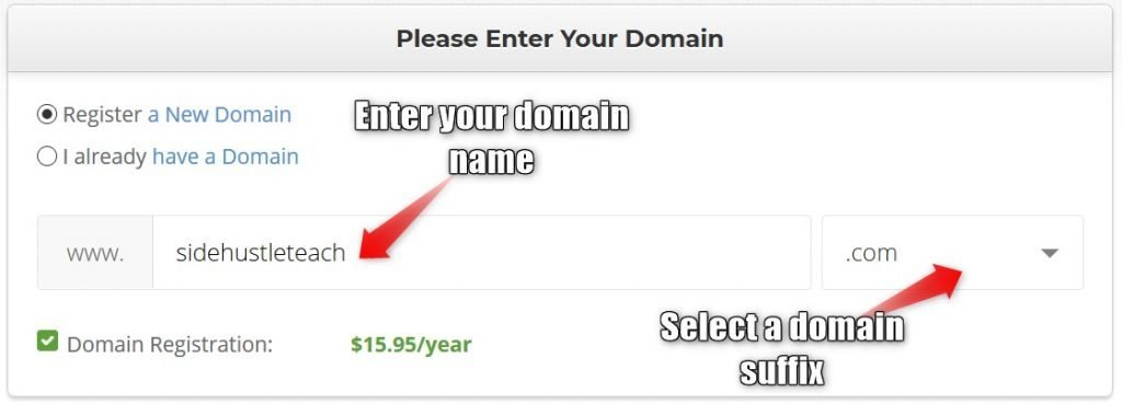 SiteGround purchase a domain