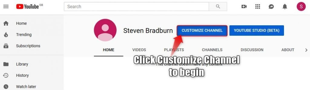 How to customize YouTube channel