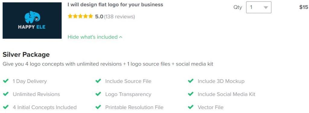 Fiverr Standard logo package