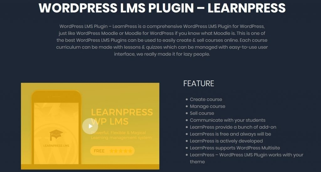 LearnPress homepage