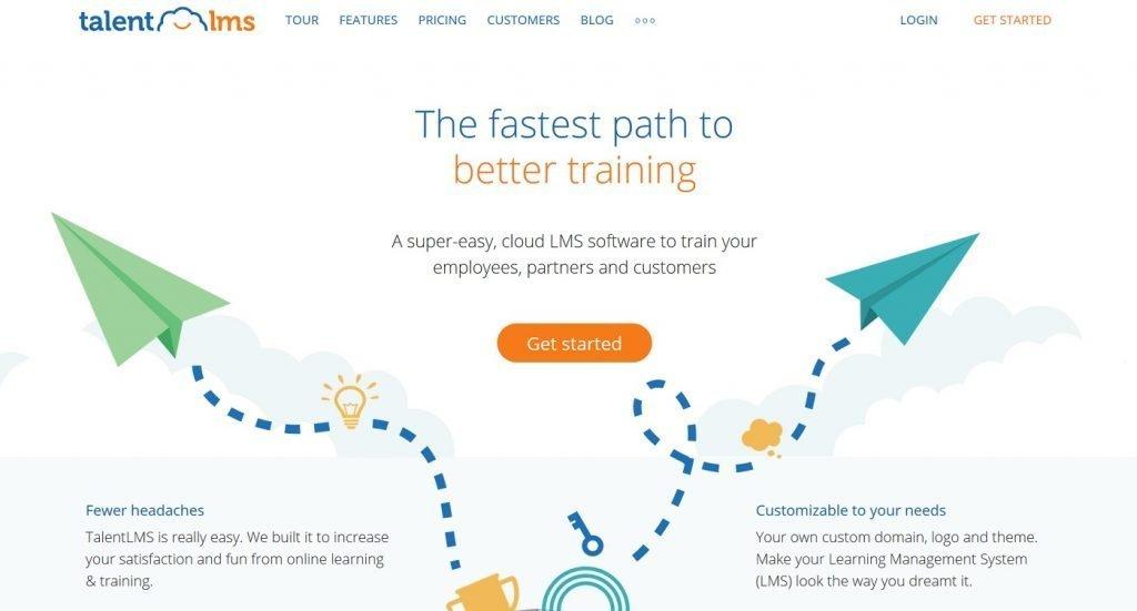 TalentLMS homepage