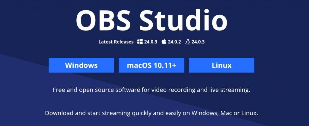 OBS Studio homepage