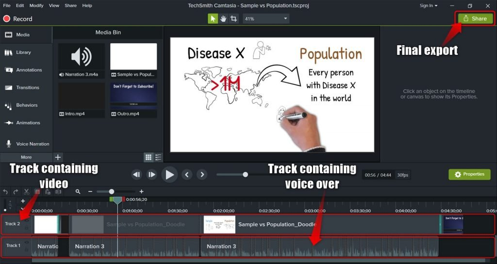 Camtasia video editor