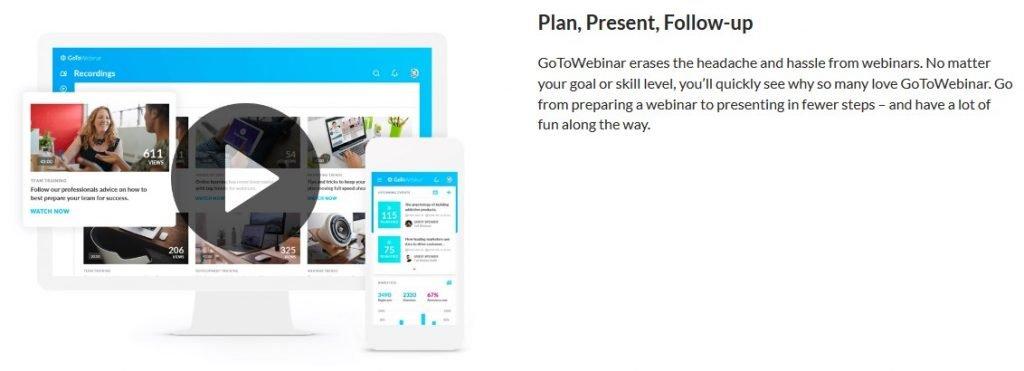 GoToWebinar homepage
