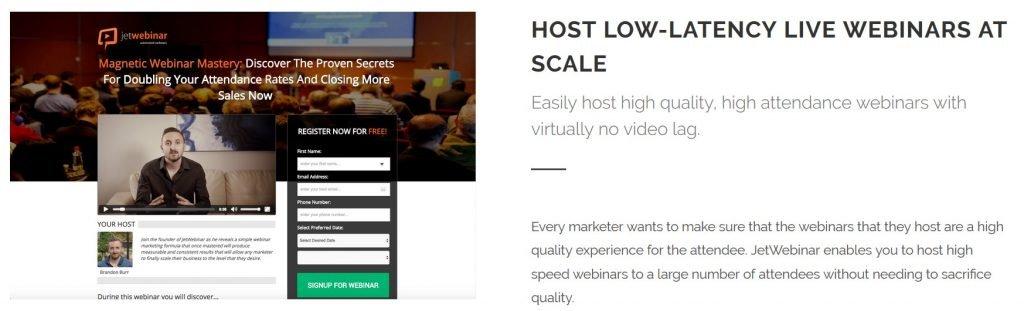 JetWebinar homepage
