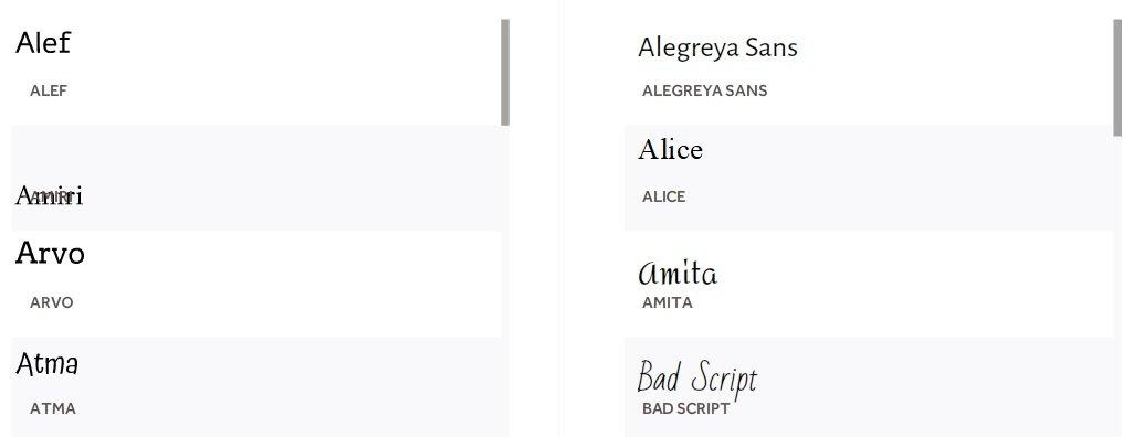 VideoScribe fonts