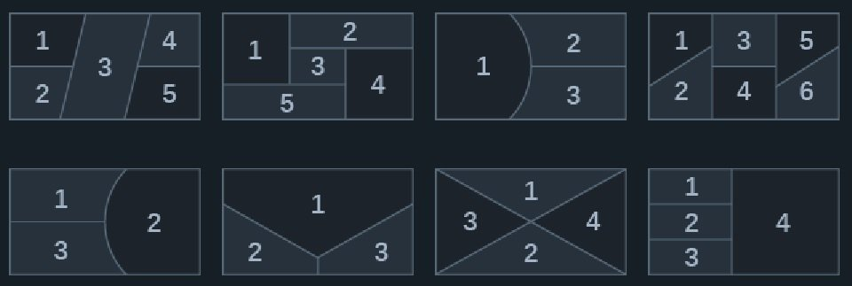 Filmora X split screen examples