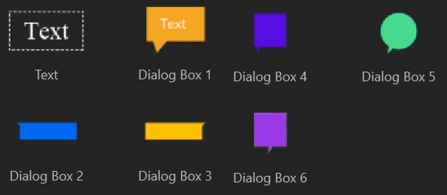 DemoCreator dialog boxes