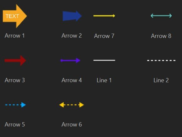 DemoCreator lines and arrows
