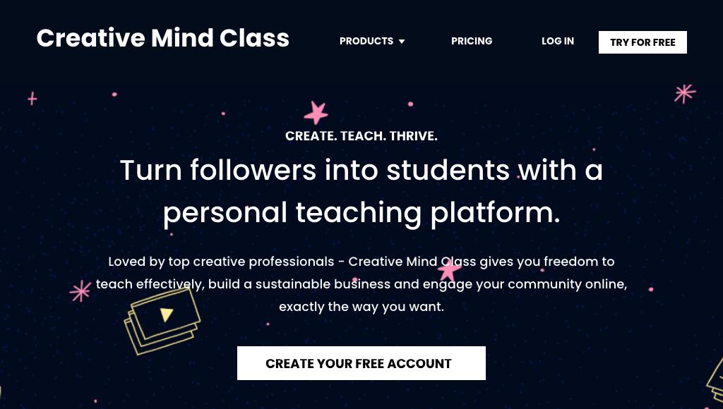 Creative Mind Class homepage