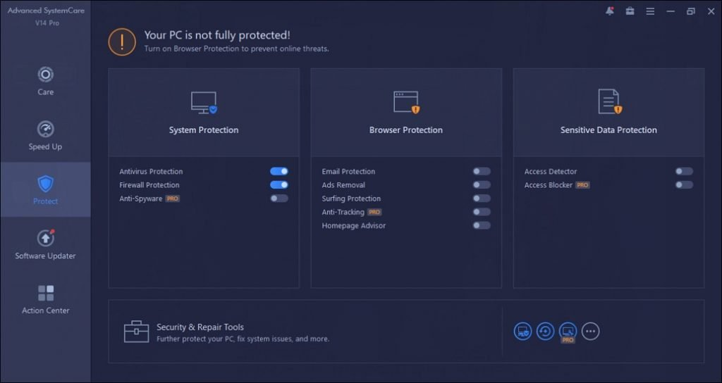 IObit Advanced SystemCare PRO Protect