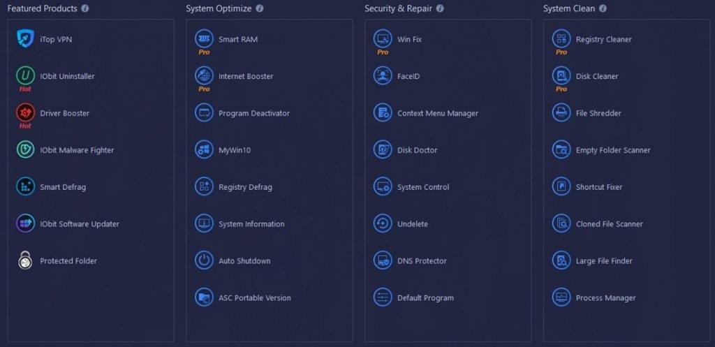 IObit Advanced SystemCare PRO Toolbox